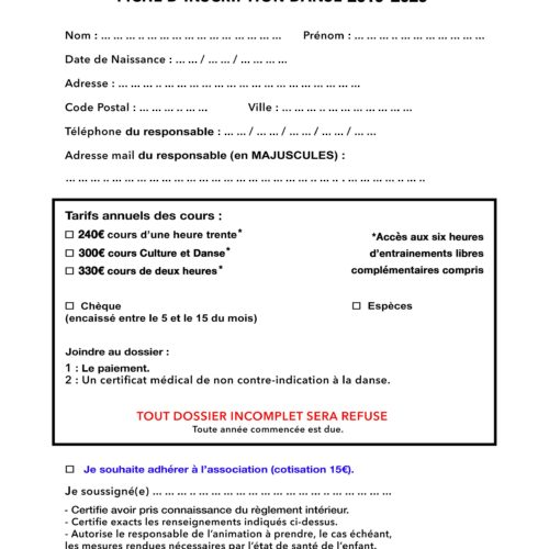 Fiche Inscription SMC